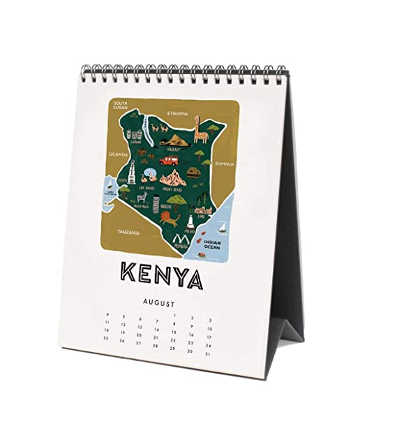 Rifle Paper 2019 - Calendario de mesa de mapamundi: Amazon ...
