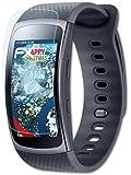 3 x atFoliX Panzerfolie Samsung Gear Fit 2 Folie - FX-Shock-Clear ultraklar und stoßabsorbierend