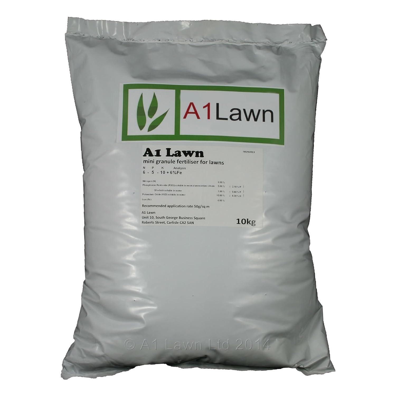 10kg A1LAWN ULTIMATE AUTUMN/WINTER LAWN FERTILISER (6-5-10 +6fe) - 285 Sq Metres