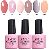 AIMEILI Soak Off UV LED Gel Nail Polish Multicolour/Mix Colour/Combo Colour Set Of 6pcs X 10ml - Kit Set 22