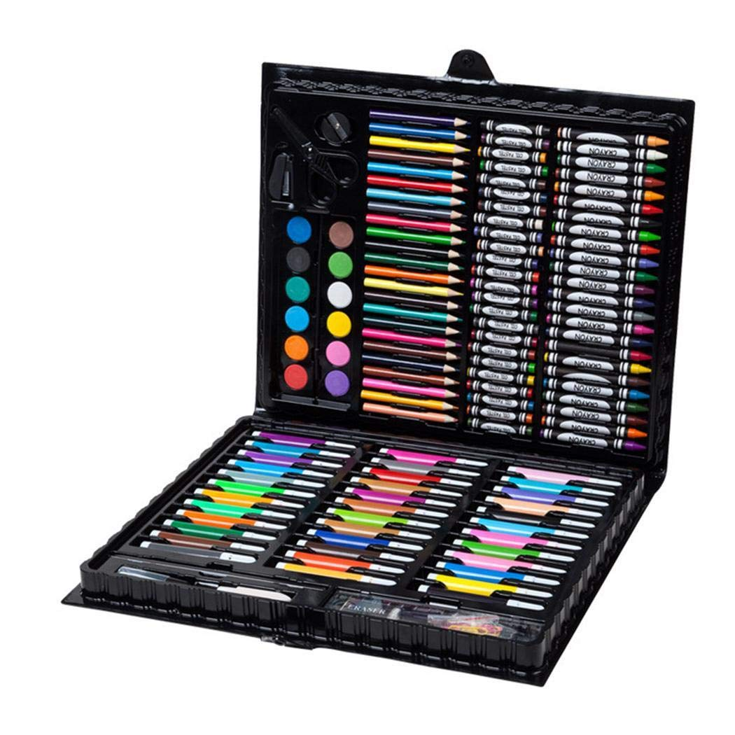 Dickin 150pcs Children's Art Stationery Crayons Watercolor Pen Painting Tool Set