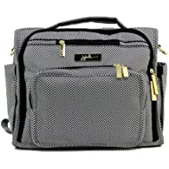 JuJuBe B.F.F Multi-Functional Convertible Diaper Backpack/Messenger Bag, Legacy Collection - The Queen of the Nile - Black/White Chevron