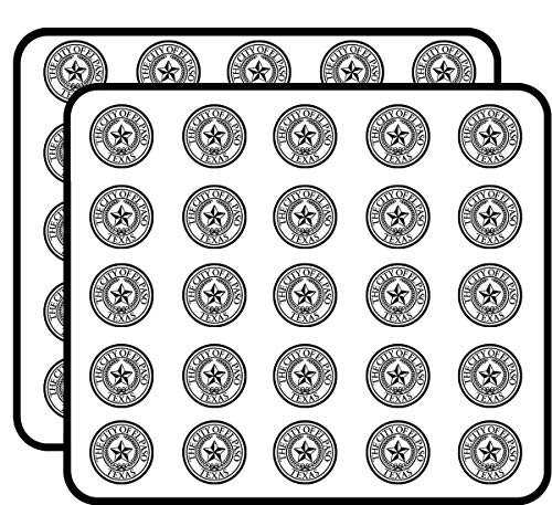 White Round City of El Paso Texas Seal (tx) Sticker for Scrapbooking, Calendars, Arts, Kids DIY Crafts, Album, Bullet Journals -