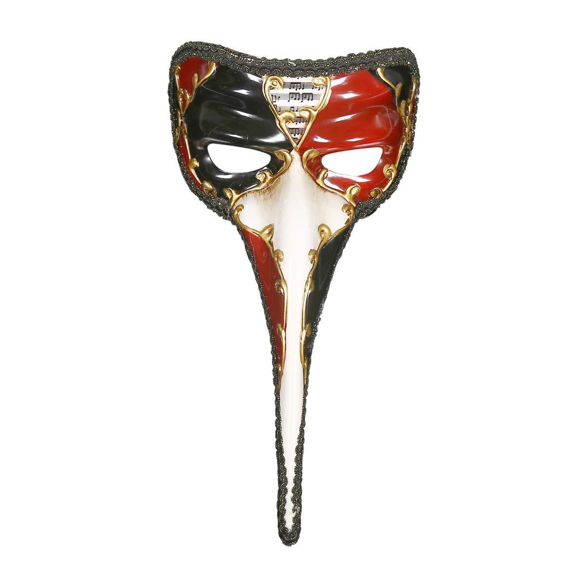 QWhing Festival-Maske Maskerade Halloween-Maske Ganze Person Kleine Lange Nase Handgemalte Maske Kostüm Maske (Farbe : Red)