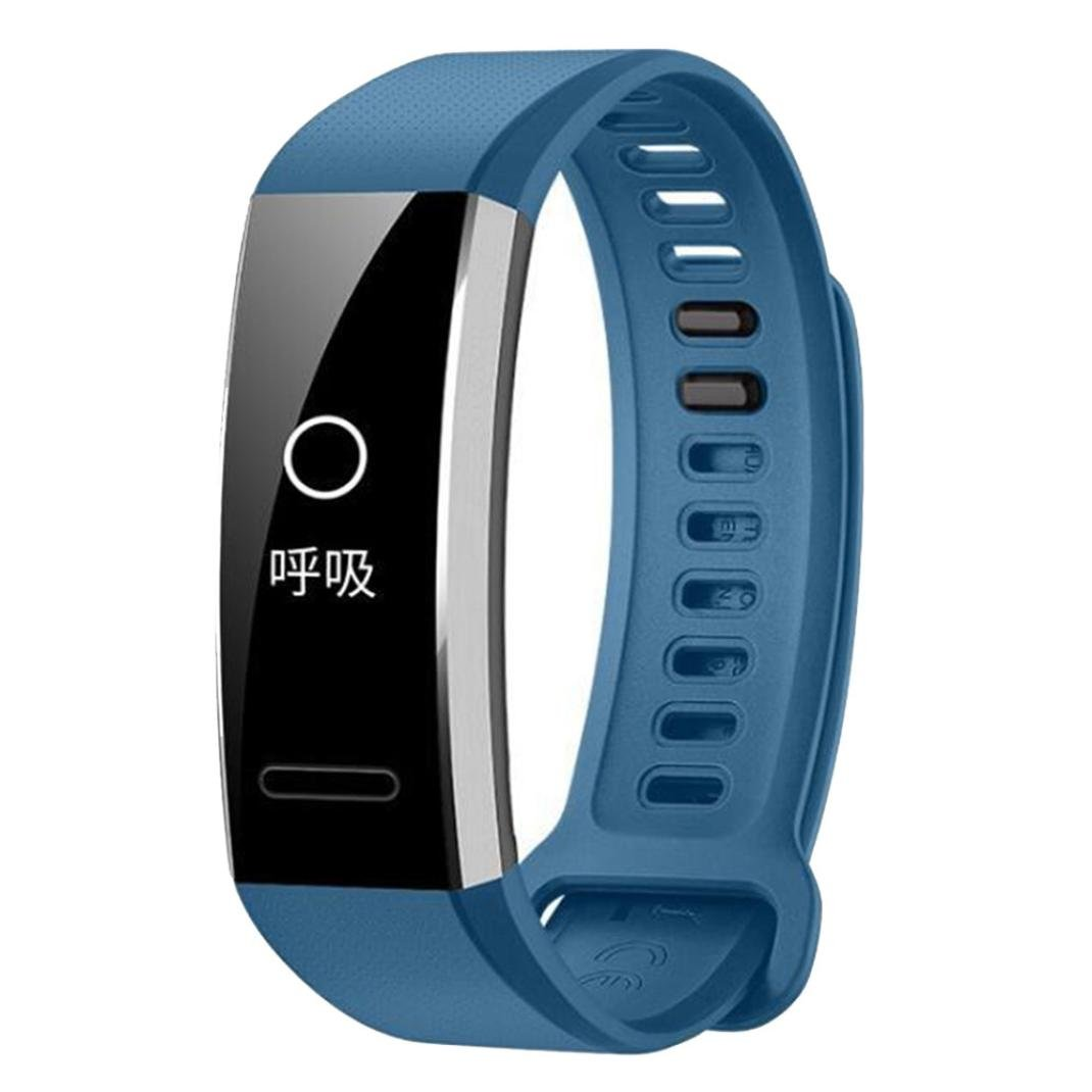 YJYdada Silicone Replacement Band Wrist Strap for Huawei Band 2/Band 2 Pro Smart Watch (Blue)