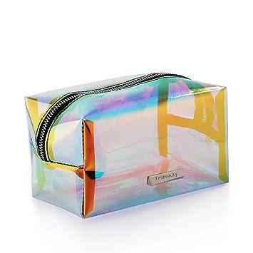 Amazon.com: Bolsa de maquillaje holográfica iridiscente ...