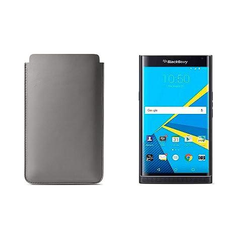 Lucrin - Funda para la BlackBerry Priv - Gris Ratón: Amazon.es: Electrónica