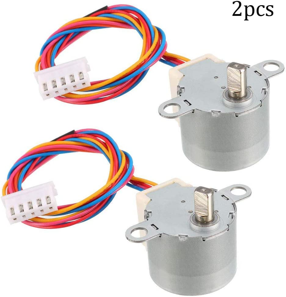 2 St/ück Micro Reduzierer 4-Phasen 5-Draht Schrittmotor Reduktion Schrittmotor 24BYJ48 DC 12 V