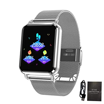 f01bbe8be 332 pageann Pulsera Inteligente rastreador Reloj Inteligente Fitness con Color  Pantalla para Etape Contar del Ritmo Cardiaco Monitoring Smart Reminder ...