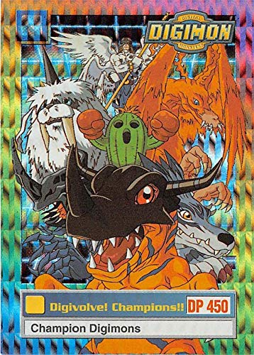 Champion Digimon trading card 1999 Upper Deck #3 refractor