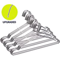 FSUTEG Coat Hanger, 40 Pack Wire Hangers Stainless Steel Metal Hangers Heavy Duty Hangers, Ultra Thin Clothes Hangers 16.5in