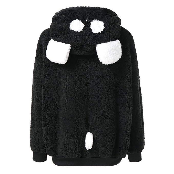 Abrigos de la Mujer, TWBB Linda Oso Panda Oreja Invierno Larga Abrigo De Caliente Abrigo Mujer Chaqueta con Capucha: Amazon.es: Ropa y accesorios