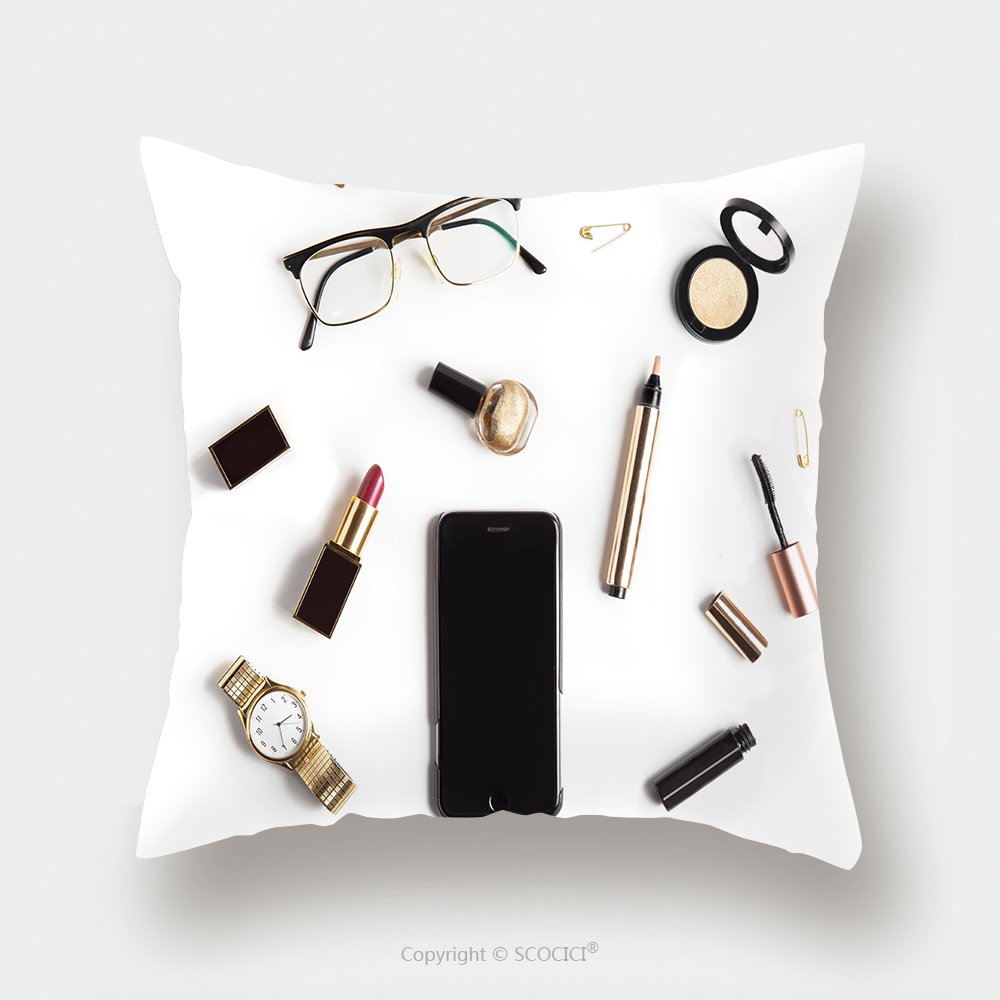 Custom lino y algodón funda de almohada de pantalla plana Lay ...
