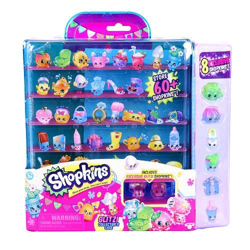Shopkins season 4 Glitzi collectors case with 8 exclusive shopkins