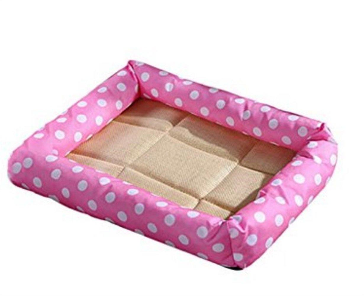 Sun Glower Coperta delle forniture dell'animale Estate fresca materasso canile Pet Bed Cat Litter Dog Supplies (colore  rosa, Taglia  L)