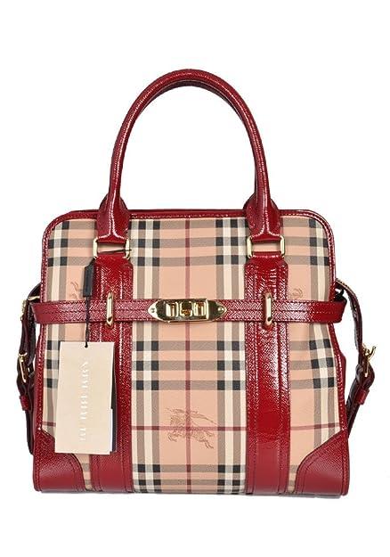 Rosso Burberry A Donna Scarpe Amazon Quadri Borse Spalla Borsa it E RAIwnqA6