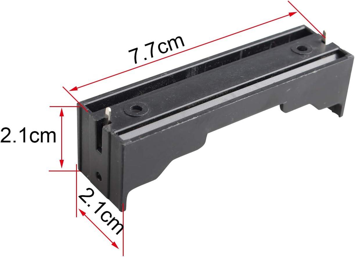 mit Stift HALJIA 18650 Batterie-Halterung Kunststoff 10 St/ück 3,7 V