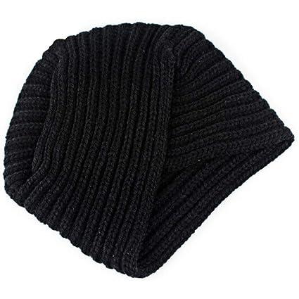 Ssowun Gorro de Punto de Lana Sombrero Knit Turbante Indio para Mujer  Invierno 8de9a7b56e4