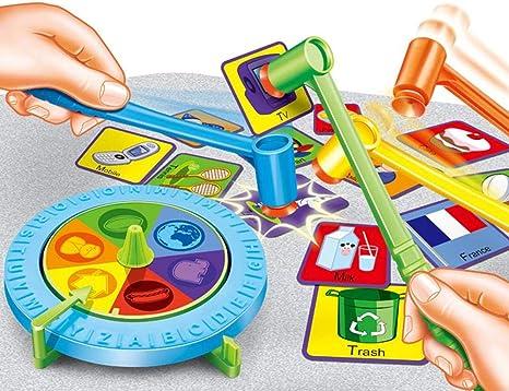 Divertido juego de acción rápida niños Martillo golpeando Kids Fun juego de mesa bloque, escritorio juego de un partido de la celebración de la familia, juguetes interactivos entre padres e hijos: Amazon.es: