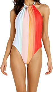 product image for Mara Hoffman Women's Dominique High Leg Halter One Piece Swimsuit