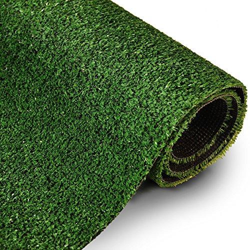 casa pura® Kunstrasen Teppich Spring - pflegeleicht & sehr belastbar - Zuschnitt nach Maß - grün - 200x100cm