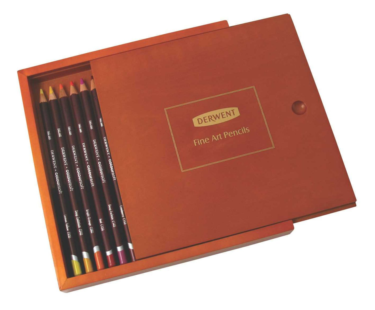 Amazon Derwent Colored Pencils Colorsoft Drawing Art Wooden Box 18 Count 2300459 Wood Office Products