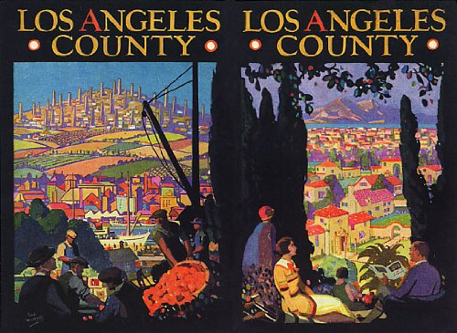 Los Angeles County California Vintage Poster Canvas Repro