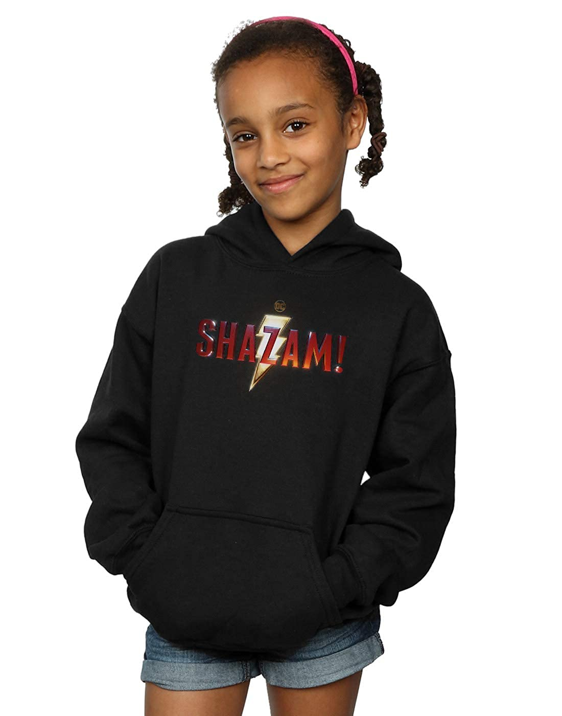 DC Comics Girls Shazam Movie Logo Hoodie