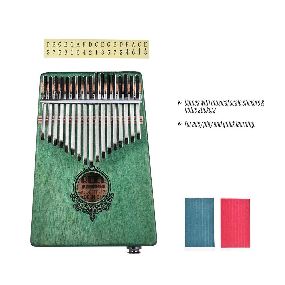Amazoncom Muslady Thumb Piano 17 Key Kalimba Mbira Mahogany Wood