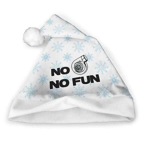 Amazon.com: No Turbo No Fun Christmas Hats Adult Kids Santa Christmas Hat Santa Hat (2 Pack): Sports & Outdoors
