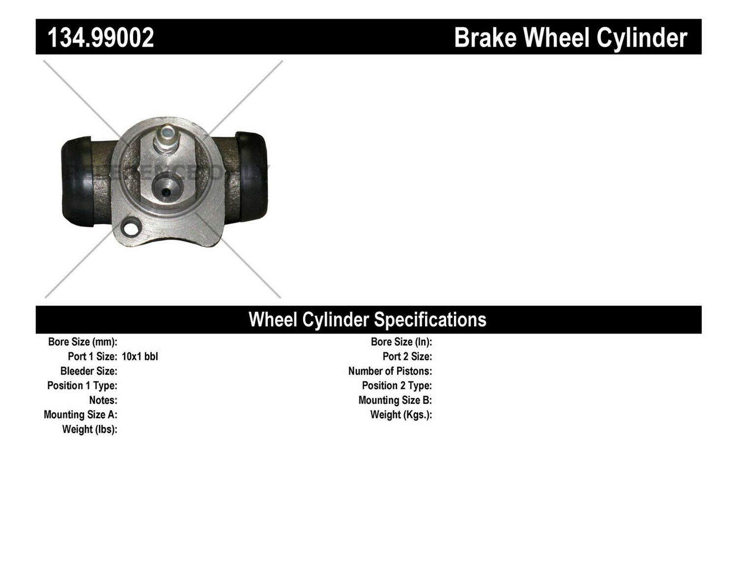 134.99002 Centric Drum Brake Wheel Cylinder