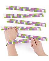 Pastel Color Brick Slap Bracelets - 12 pc