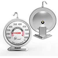 "Large 3"" dial oven thermometer - KT THERMO (2019 New Design) NSF-approved accurately easy-to-read extra large clearly…"