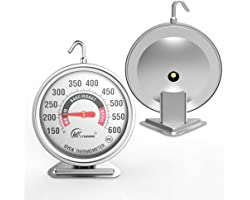 """KT THERMO 3"""" Large Oven Thermometer NSF Accurately- Large Rotary Hook & Easy to Read Large Reading Number Shows Marked Temper"""