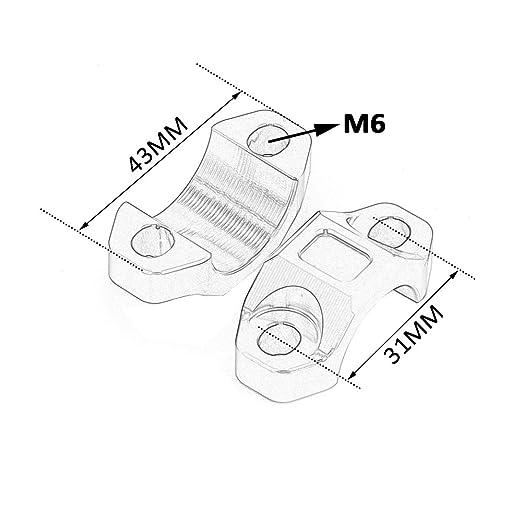 Amazon Com Jfg Racing Cnc Engine Kill Switch Mounting Backplate For