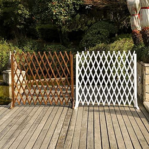 庭のフェンスの装飾屋外大 伸縮木製フェンス庭のフェンスペット屋外ガーデンデコレーション伸縮フェンス、庭のパーティションのフェンスフェンスクライミングつるフレーム自立、防錆木製のフェンスフェンス庭のフェンス 木製の折りたたみ式フェンス (Color : Brown, Size : 80cm)