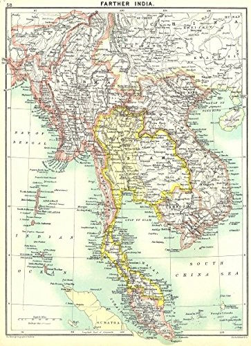 INDOCHINA. Malaysia, Thailand, Vietnam, Cambodia - 1900 ... on sumatra map, taiwan map, manchuria map, south america map, malay peninsula map, cambodia map, vietnam map, indonesia map, malay archipelago map, west africa map, irrawaddy river map, philippines map, ottoman empire map, indian ocean map, world map, china map, burma map, java map, thailand map, asia map,