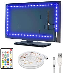 Led Strip Lights 8.3 Feet, Waterproof Tv Light Strip Rgbw 65536 DIY Colors Changing Rope Lights with Remote 30mins Timing Off 5v USB Powered Led Tape Light Kits for 42-50in Tv Monitor Theater Bedroom