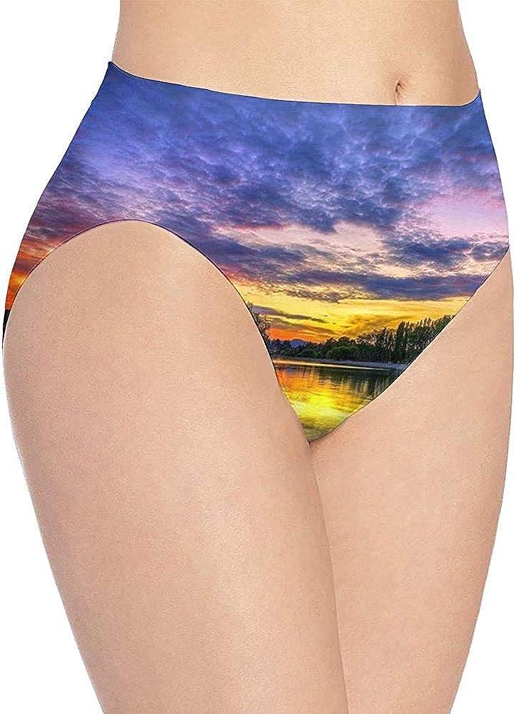 Web--ster Hermosa Ropa Interior Estampada Dusk Lake para Mujer, Braguitas Hipster Lindas para Mujer, Bragas WUD-1288: Amazon.es: Ropa y accesorios