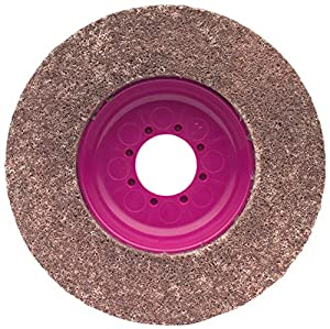 CS Unitec 96710 Magnum Fleece Top Finishing and Polishing Disc, 4-1/2 Diameter, 7/8 Arbor, 80 Grit (Pack of 5)