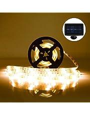 Striscia LED Solare FKANT Strisce LED per Esterno 5m IP65 Impermeabile con 2 Modalità, Flessibile, Perfetto per la Decorazione