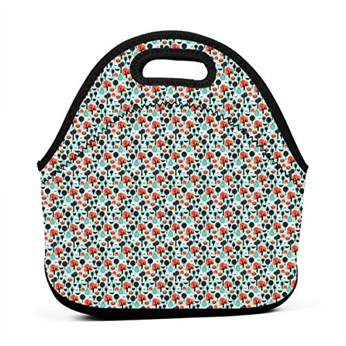 Crazy Halloween Pumpkin Cat And Skull Illustration Pattern XXS_10272 Portable Lunch Containers, Work Lunches bag, Picnic, Travel, BBQs, Camping, -