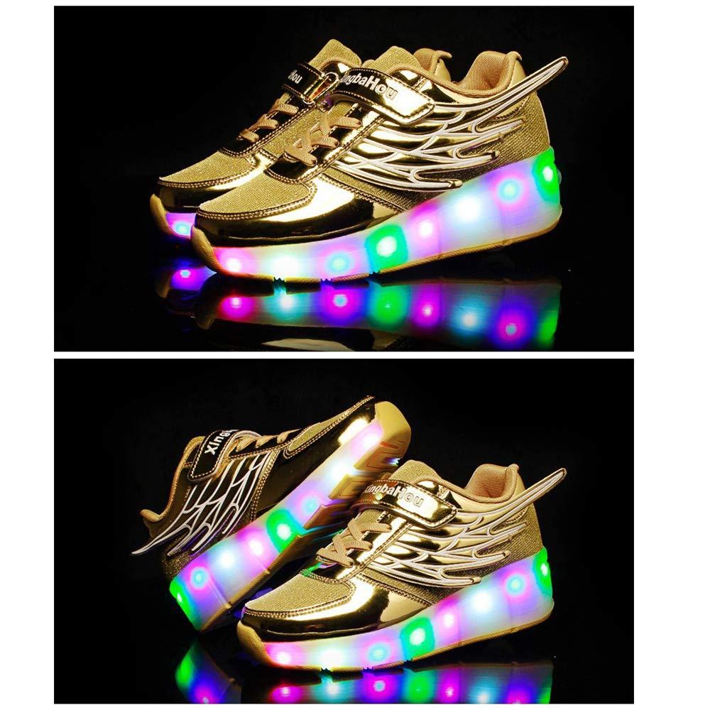 SJLHP Led Zapatos del Pat/ín De Rodillos con Sola Rueda En Monopat/ín Zapatos Angel Wings Deporte Al Aire Libre Correr Gimnasia Zapatillas De Deporte
