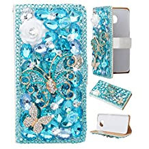 LG G Stylo Case, EVTECH(TM) Handmade Bling Crystal Rhinestone Metal Folio Wallet Stand PU Leather Case with cash/card holder For LG G Stylo, H631, MS631, LS770
