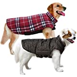 MIGOHI Dog Jackets for Winter Windproof Waterproof Reversible Dog Coat for Cold Weather British Style Plaid Warm Dog…