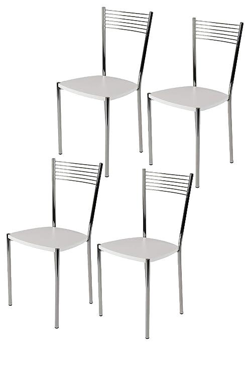 Tommychairs - Set 4 sedie moderne e di design ELEGANCE per cucina ...