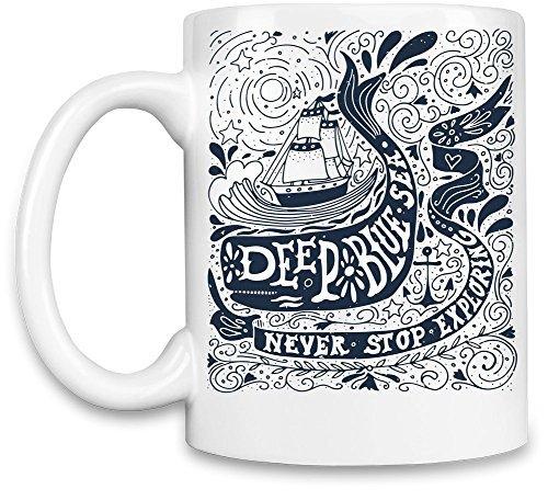 Funny Coffee Mugs Deep blue sea Unique Coffee Mug (Live Kelly And Michael Halloween)