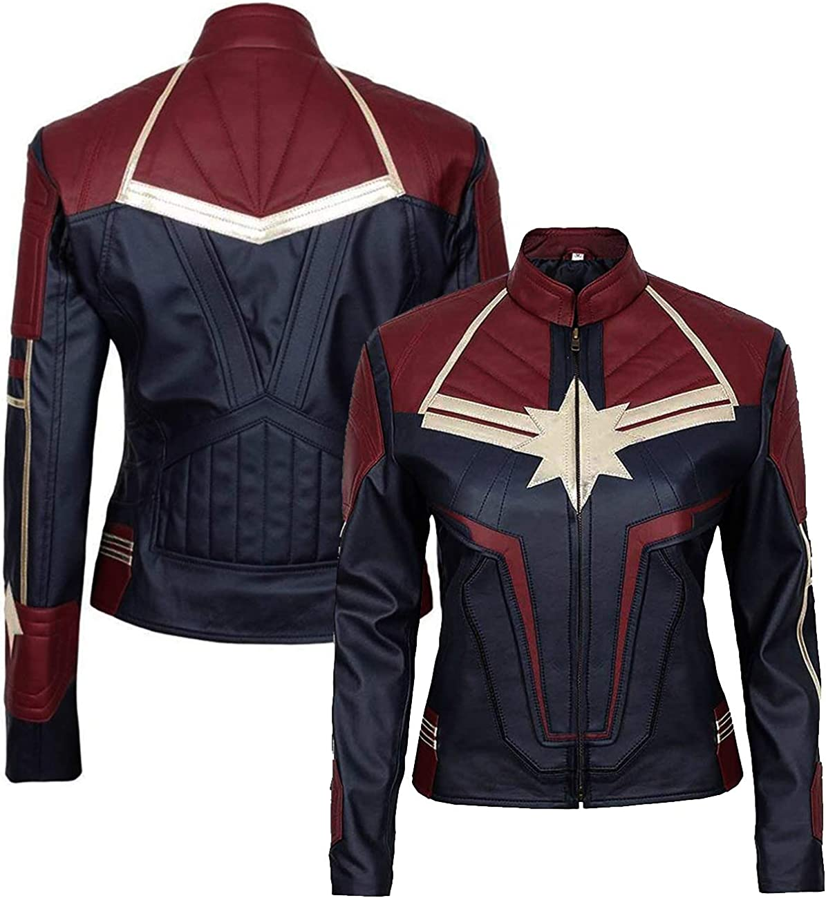 Amazon Com Girls Captain Brie Larson Slim Fit Superhero Vegan Leather Short Body Cosplay Halloween Costume Jacket Clothing Costumes marvel cosplay marvel captain marvel costume superhero cosplay epic cosplay cute cosplay amazing cosplay cosplay outfits cosplay shop this amazing brie larson captain marvel flight bomber jacket is such an amazing jacket so hurry up and get this captain marvel jacket… body cosplay halloween costume jacket