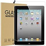 iPad 2/ iPad 3/ iPad 4 強化ガラスフィルム 【Qosea】iPad 2/ iPad 3/ iPad 4硬度9H 指紋防止 飛散防止 超薄0.3mm 2.5D ラウンドエッジ加工 (iPad 2/ iPad 3/ iPad 4 強化ガラスフィルム)