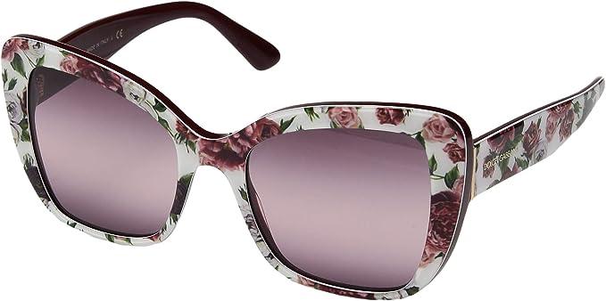 Dolce & Gabbana 0DG4348 Gafas de sol, Rose and Peony, 54 ...